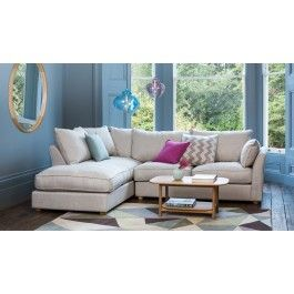 Celebrating Britain's long heritage of exquisite tailoring, this elegantly upholstered corner sofa adds understated contemporary style to the plushest of pads. Crafted in the UK and cut from a range of sumptuous Heal's fabrics, deep, feather-filled back cushions and foam & fibre seat cushions offer assured comfort and a soft, relaxing sit.