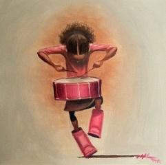 "Frank Morrison  ""Tap Tap Bang""  Oil on Canvas"