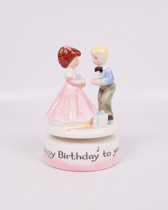 Vintage Music Box Happy Birthday To You Boy by LeVintageGalleria, $28.00