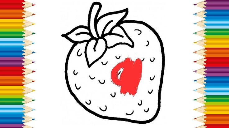 Learning How to Draw Fruits and Coloring page Fruit for KIDS - Videos for children
