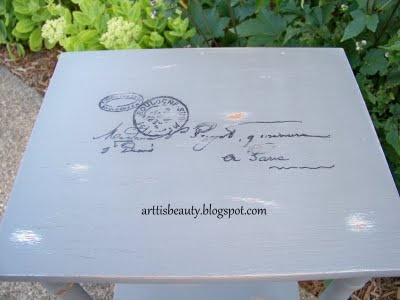 my DIY postage tableFurniture Inspiration, Painting Upcycling Furniture, Painting Furniture, Painted Upcycling Furniture, Painting Techniques, Paintedupcycl Furniture, Chalk Painting