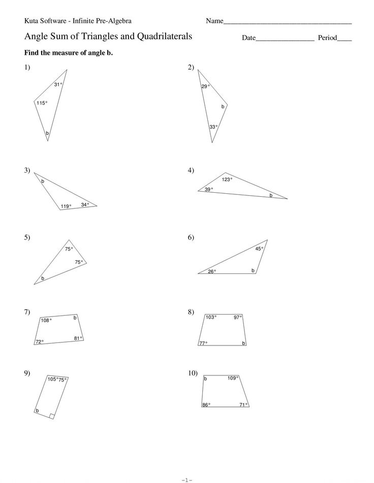 Measuring Angles Worksheet Pdf Angle Sum Of Triangles and ...