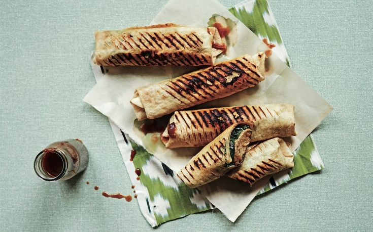 Chicken Kebab Rolls With Date And Tamarind Chutney