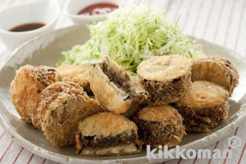 なすのはさみ揚げ http://www.kikkoman.co.jp/homecook/search/recipe.php?numb=00000635