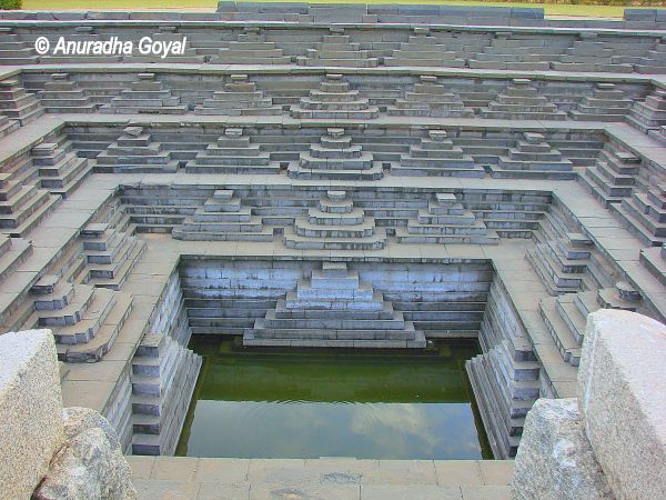 Pushkarni the Step Well at Hampi