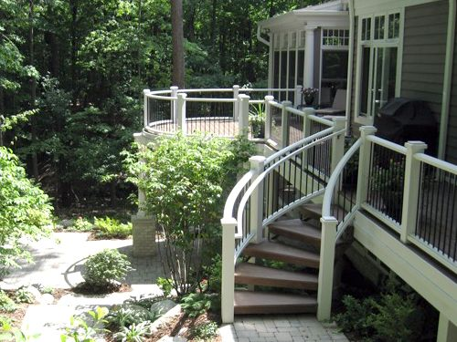 Best Curved Deck Steps My Future House Pinterest 640 x 480