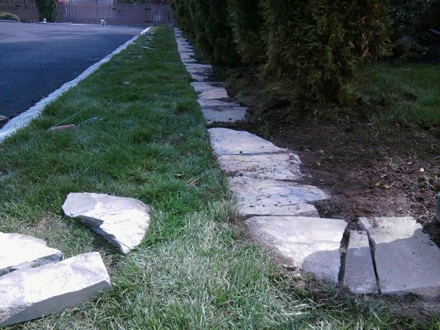 31 best images about landscaping borders edging on - Natural stone garden edging ...