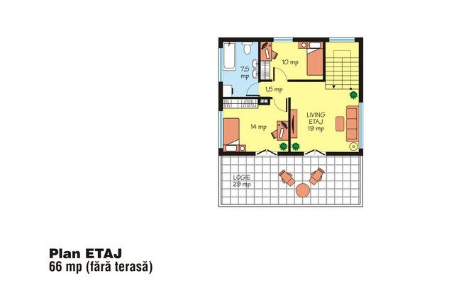 proiecte de case cu etaj sub 150 de metri patrati Two story houses under 150 square meters 9