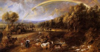 #Rainbow meaning 🌈 Landscape painting by Peter Paul Reubens