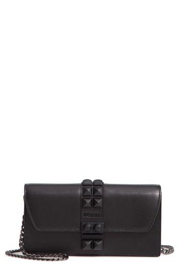 2434d170e3 Prada Elektra Studded Leather Wallet on a Chain