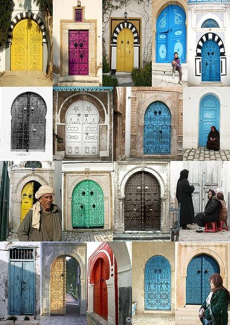 des portes de Sidi-Bou-Saïd. Tunisie