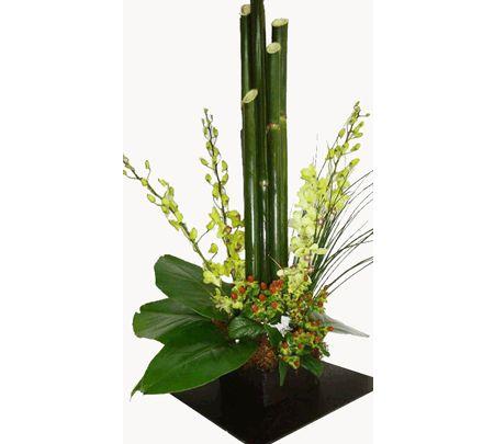 M s de 1000 ideas sobre centros de mesa de bamb en - Bambu seco para decoracion ...