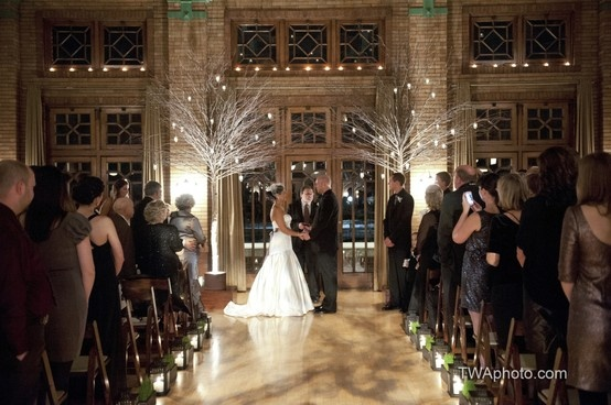Beautiful And Romantic #lighting For An Indoor #ceremony