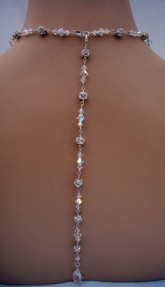 8 Best Back Wedding Necklace Images On Pinterest Wedding