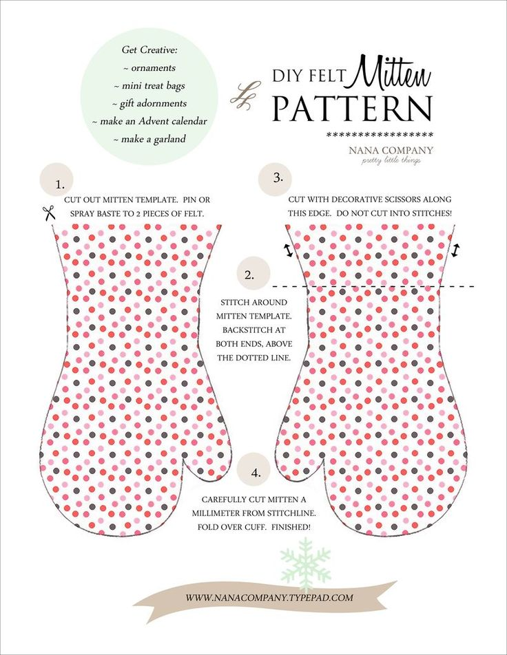 diy :: felt mitten pattern - nanaCompany