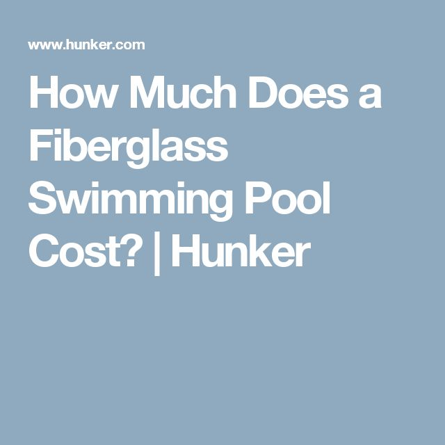 How Much Does a Fiberglass Swimming Pool Cost? | Hunker