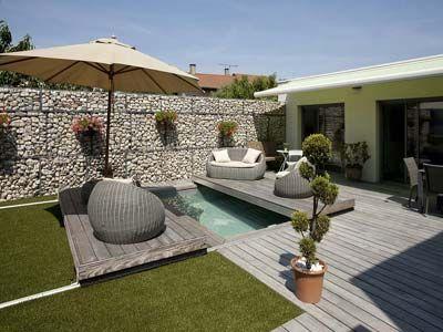 15 best pool images on Pinterest Modern pools, Swiming pool and - gartengestaltung reihenhaus pool