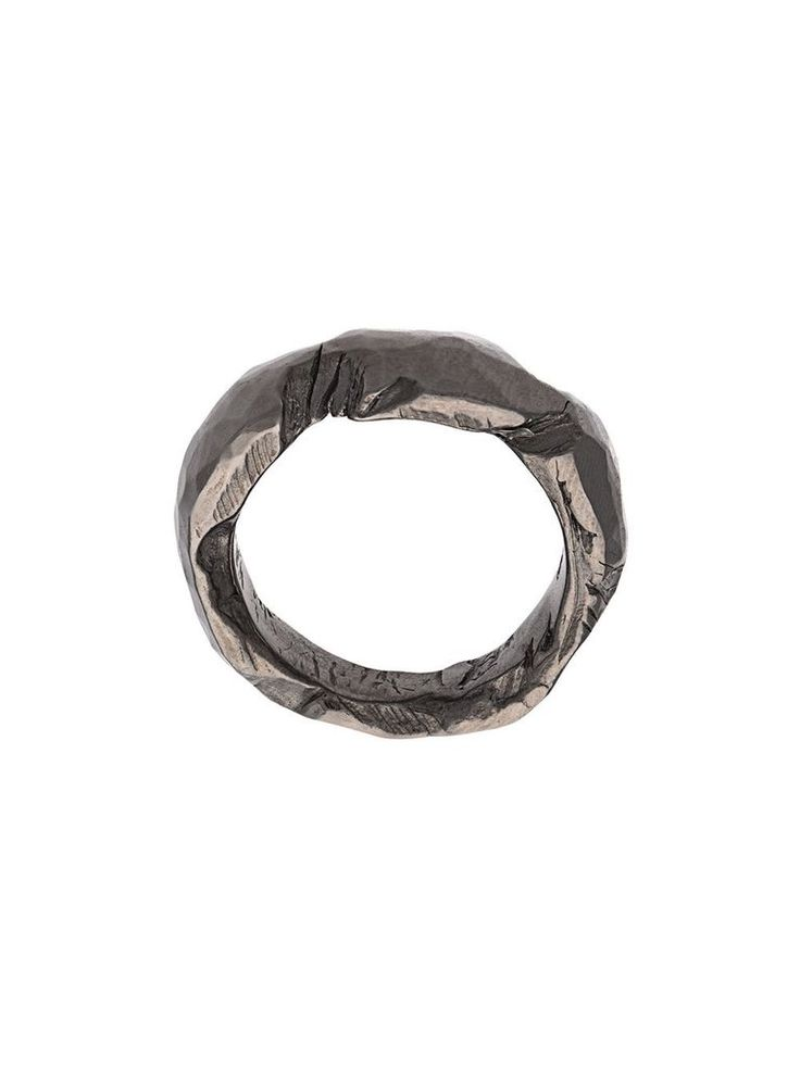 CHIN TEO CHIN TEO 069P LOVE BLACK RHODIUM RING