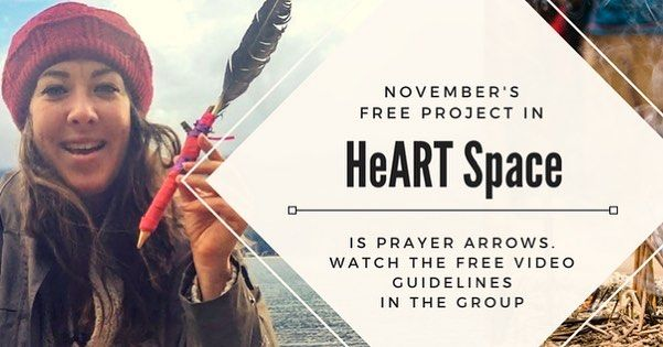 #November project #art #freeproject #prayerarrows #intention #artmaking #arttherapy #insight #nature #heARTspace #community #sharing #direction #arrow #wool #feather #prayer click the link in my profile for guidelines!