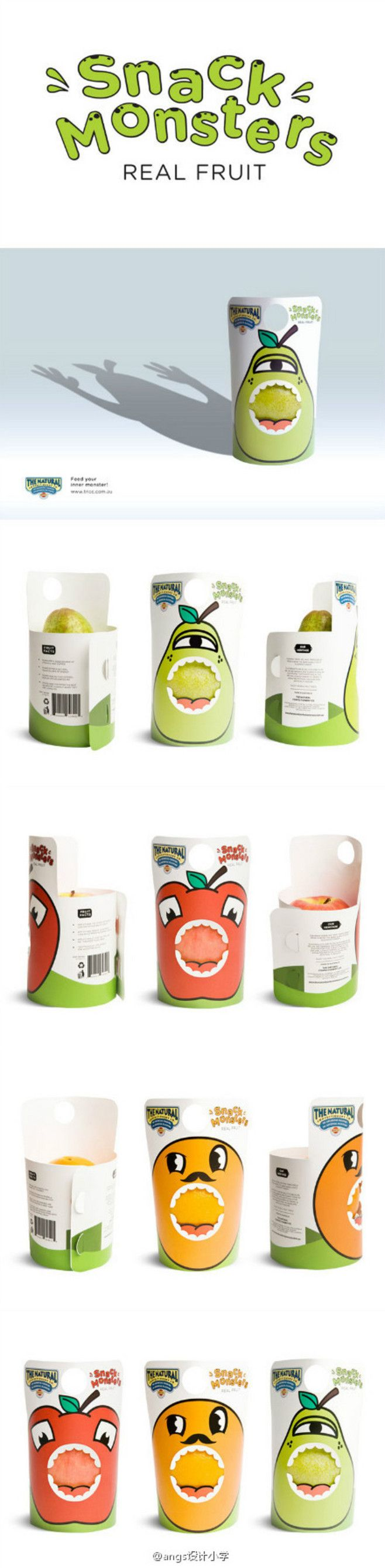 """Instant monster"" Fruit independent packaging design -Angus ..."