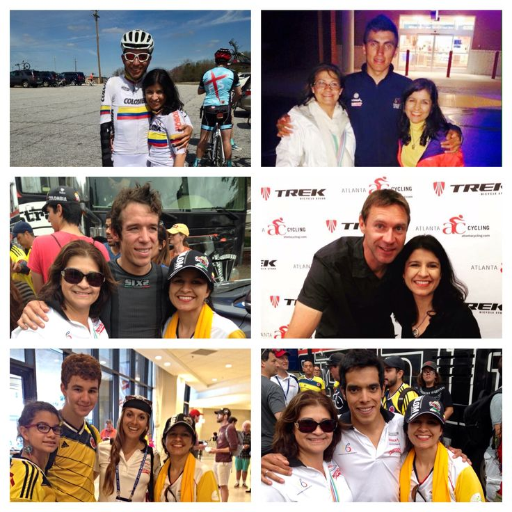Richmond 2015 and more with: Robinson Chavo Jaramillo Jhonatan Restrepo, Rigoberto Uran, Jens Voigt, Diana Carolina Peñuela y Jarlinson Pantano