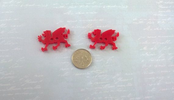 Ideal for sewing on cushions!  Pack of 4 handmade laser cut large Welsh by PinkyBearDesigns