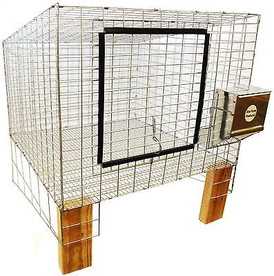 1 RITE FARM PRODUCTS COMPLETE 24X24 WIRE RABBIT CAGE BUNNY INDOOR OUTDOOR MEAT