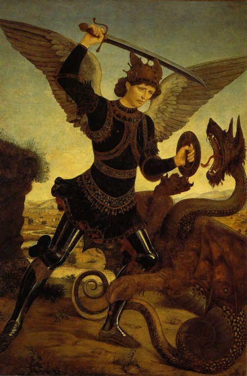 Piero del Pollaiolo San Michele Arcangelo e il drago, ante 1465