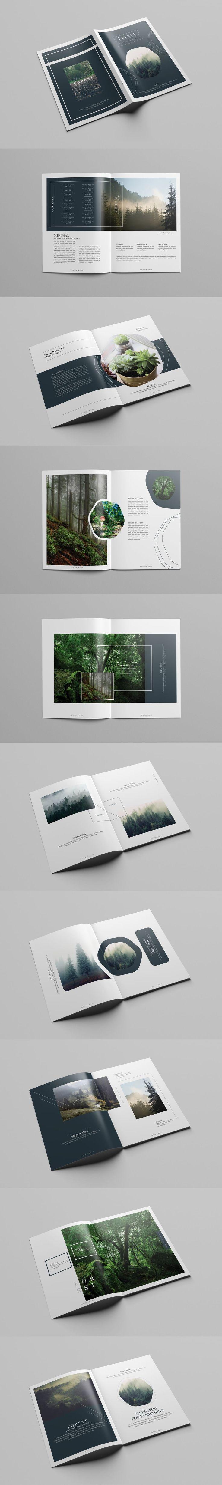 Multipurpose Creative Portfolio Brochure Template InDesign INDD - 36 Custom Pages, US Letter Size