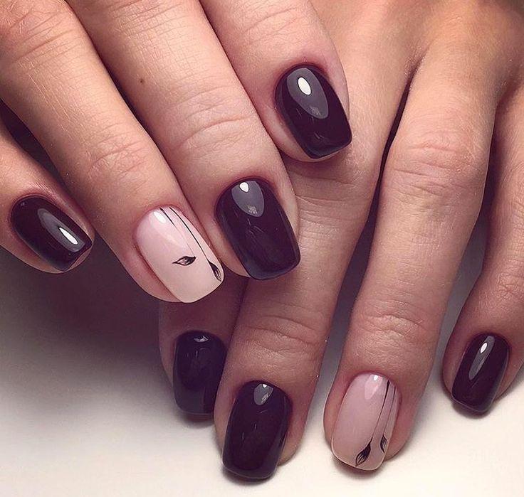 wine nails ideas