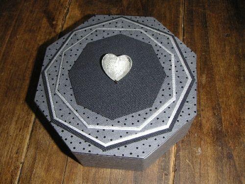 fiche boîte octogonale - Cartonnage