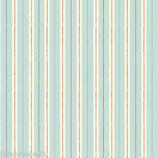 Duck Egg Blue Stripe Fabric Chicken and Egg by Makower 100% cotton quilting