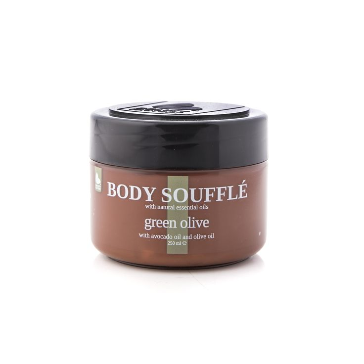 Essentials Green Olive Body Souffle 250ml - WITH AVOCADO OIL AND OLIVE OIL.  GoodiesHub.com