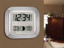 La Crosse Technology WS-8418AL-IT Atomic Digital Wall Clock with Moon Phase
