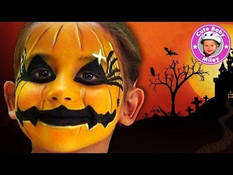 Schminken für Halloween - Miley wird zum gruseligen Kürbis - Kinderkanal - YouTube