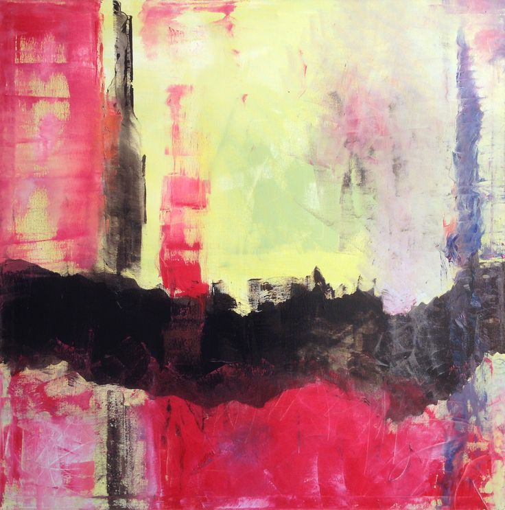Título: Limite Seletivo | Técnica: Óleo, Grafite e Betume Sobre Painel | Estilo: Abstrato | Dimensões: 100x100cm