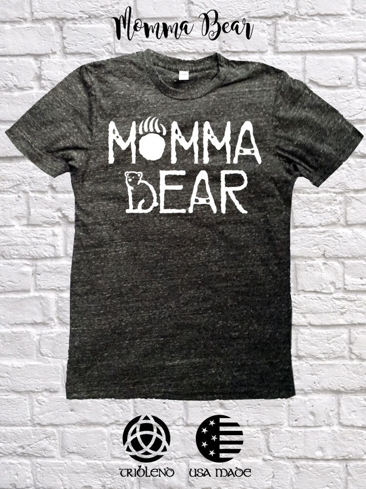 Momma Bear Triblend Tee - Mommy and Me shirts - Adult S-XXL by WickedlyLucky on Etsy https://www.etsy.com/listing/474975841/momma-bear-triblend-tee-mommy-and-me