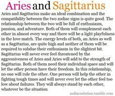 sagittarius women and aries man