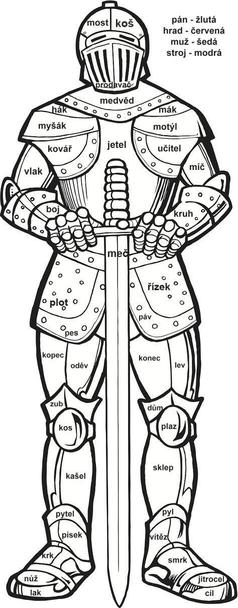 Vybarvování - vzory rodu mužského