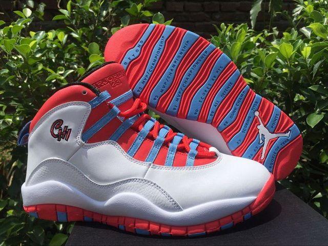 f21955bb465841 Cheap Priced Air Jordan 10 X City Chicago Flag Light Crimson University  Blue Discount Sale