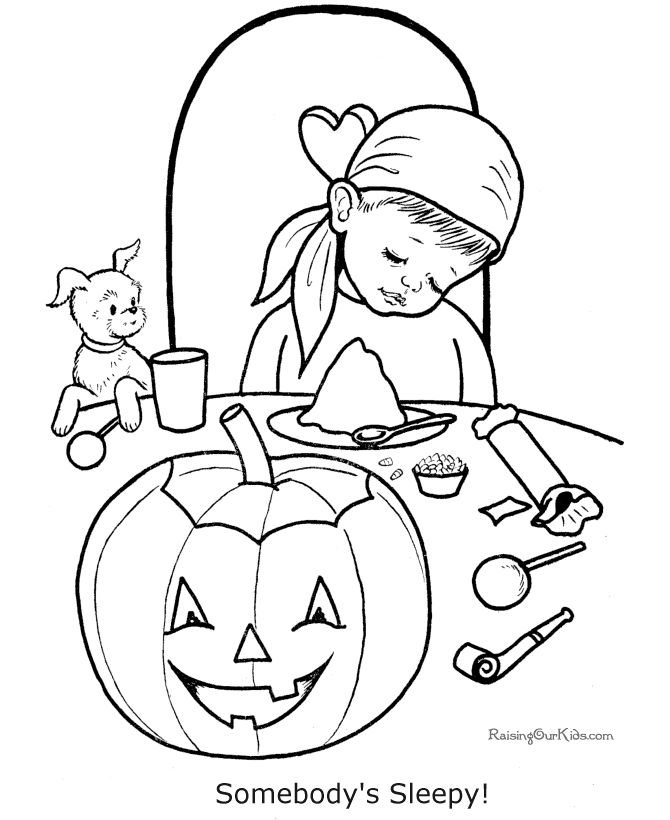 Free Printable Kid Halloween Coloring Pages