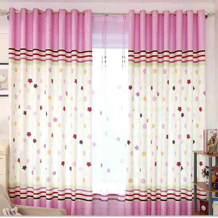 Romantic Pink Kids Curtain Environmental
