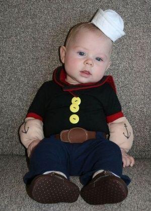 disfraces caseros para bebs popeye