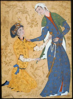 A Young Man Offering a Cup of Wine to a Girl, 16th century, Persian, Museum of Fine Arts, Boston