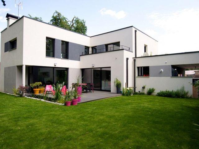grande maison moderne toit plat httpwwwm - Maison Moderne Contact