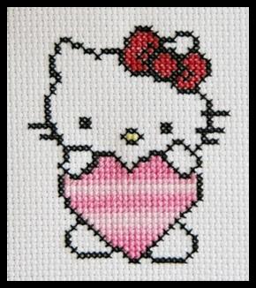 Hello Kitty cross stitch
