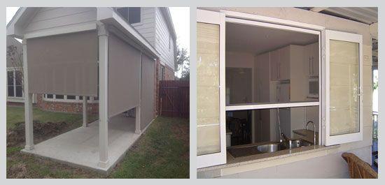 Exterior Blinds didesain khusus untuk pemasangan di luar ruangan. Pilihan produk Suntex Blinds, Windhouse, UV Blinds dengan aneka sistem pengoperasian.