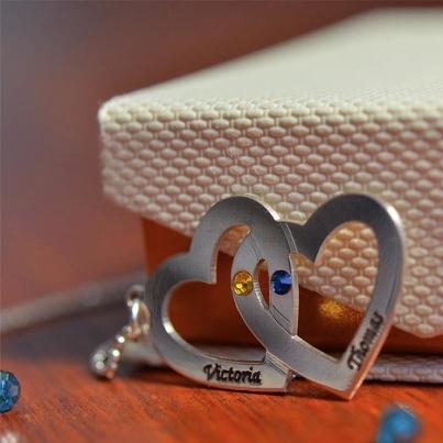 925er Silber Herzkette mit Swarovski Kristall €44.90