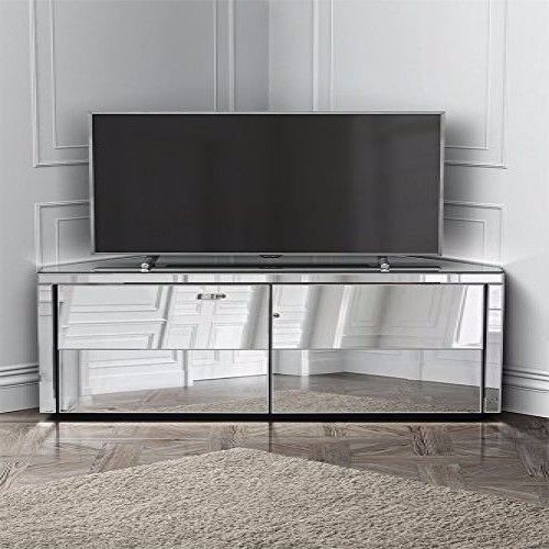Mirrored Corner TV Cabinet Entertainment Unit Contemporary Drawer Furniture Gift  | eBay