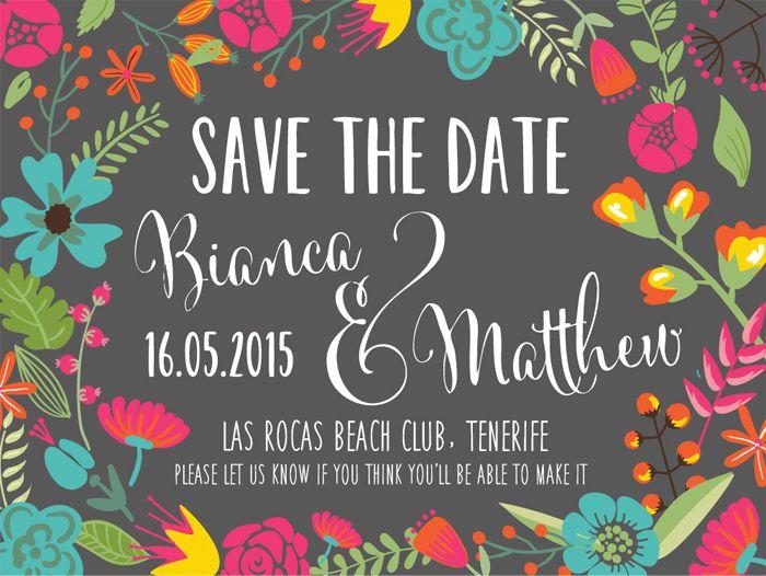 Andrea Barras. Wedding Stationery: Bianca & Matthew